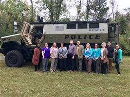 Oct. Session - Class with CMERT armored SWAT vehicle -  - Leadership Tri-County
